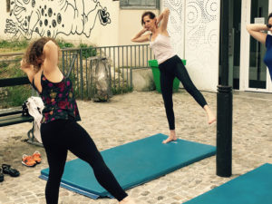 cours de pilates au SUPER Café