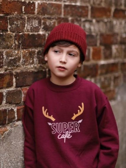 sweat-shirt de Noël SUPER Café pour enfant